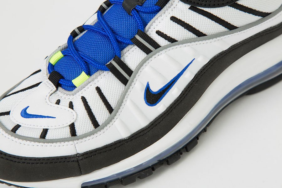 Nike Air Max 98 White Racer Blue Volt 640744-103​