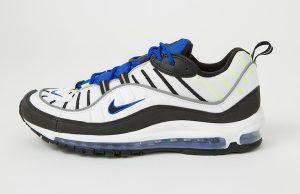 Nike Air Max 98 White Racer Blue Volt 640744-103