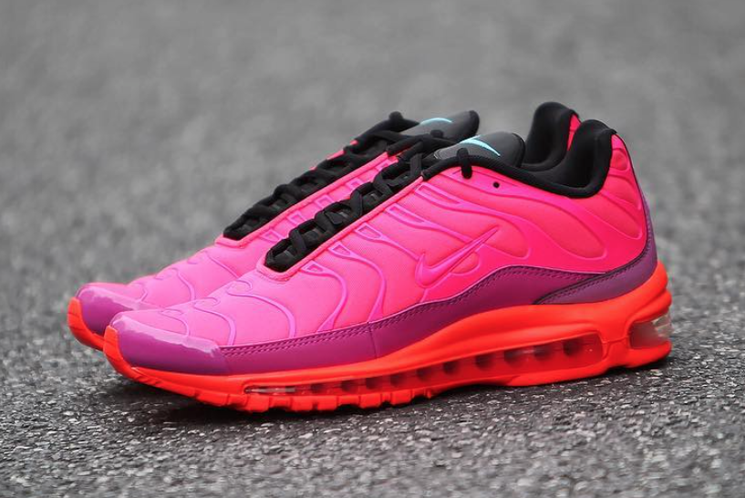 Nike Air Max Plus 97 Racer Pink Hyper Magenta Total Crimson Black AH8143-600