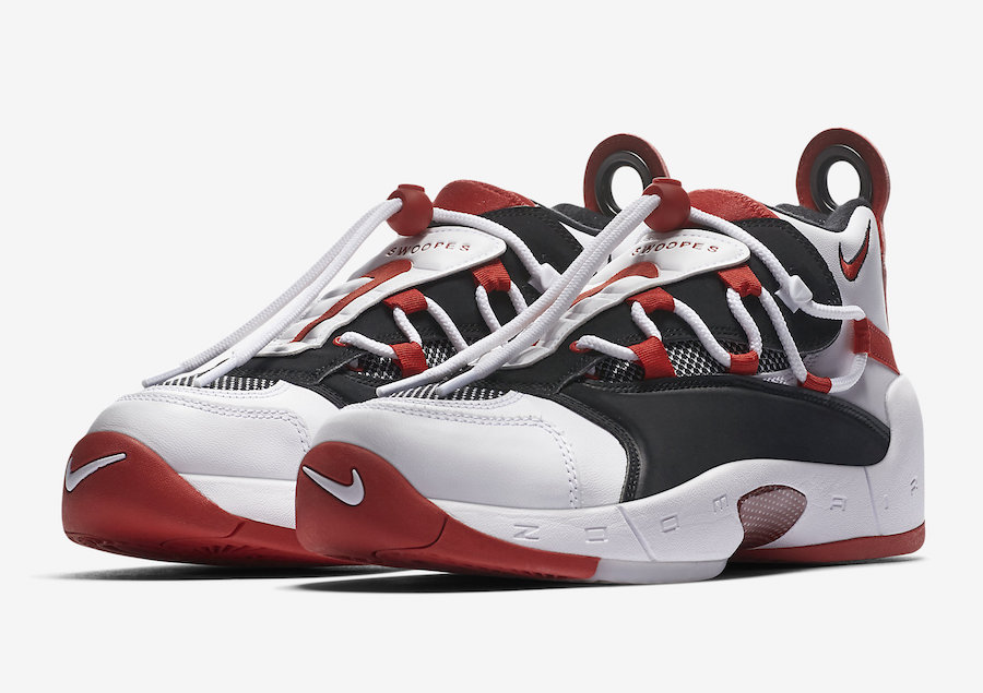 Nike Air Swoopes 2 White Black Red 917592-100