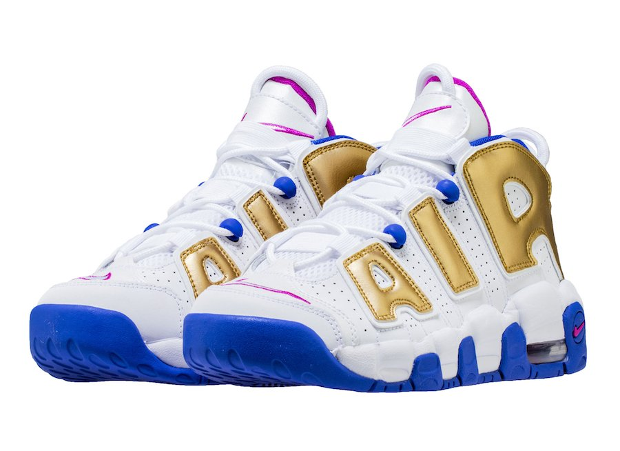 Nike Air More Uptempo Fuchsia Blast Metallic Gold 415082-106 ... 28b94ca74