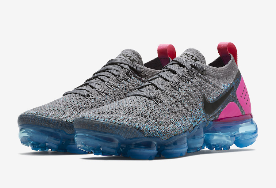 1e541e85177 Nike Air VaporMax 2 Gunsmoke Blue Orbit Pink Blast 942843-004 ...
