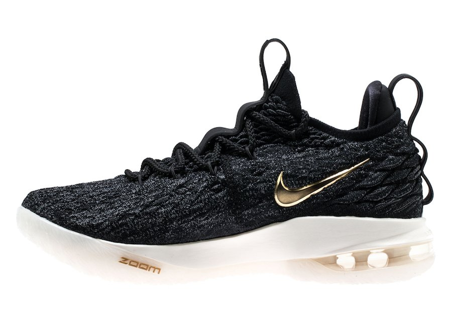 Nike LeBron 15 Low Black Metallic Gold AO1755-001