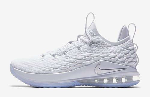Nike LeBron 15 Low White Metallic Silver