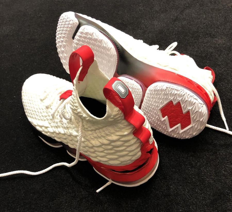 Nike LeBron 15 Ohio State PE