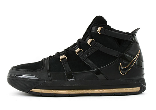 Nike LeBron 3 Retro Black Metallic Gold
