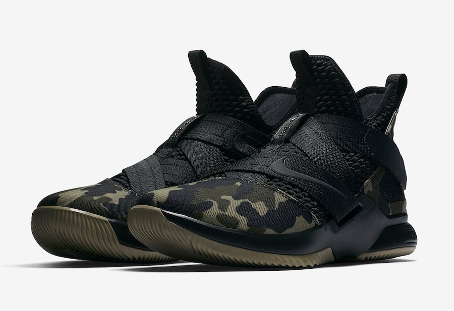 Nike LeBron Soldier 12 SFG Camo Black Hazel Rush AO4054-001