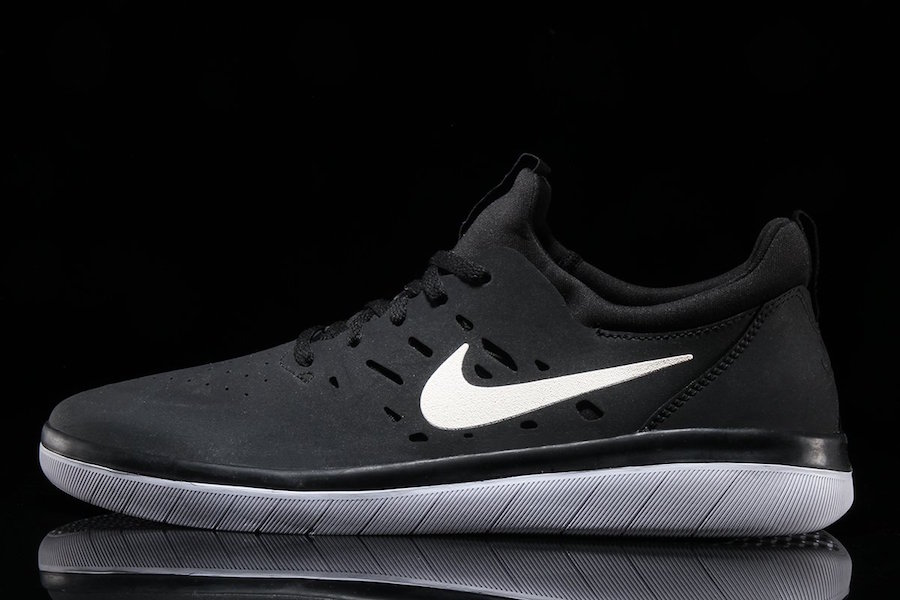 Nike SB Nyhah Free Black White AA4272-001