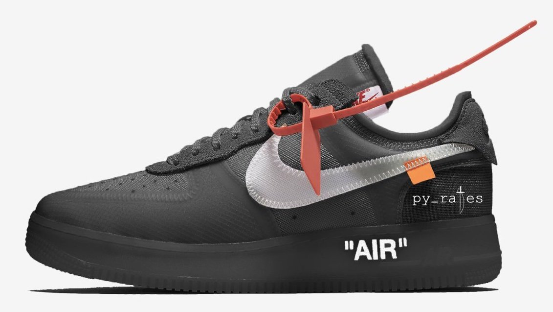 promo code 542e9 83a2f Off-White Nike Air Force 1 Low Black AO4606-001