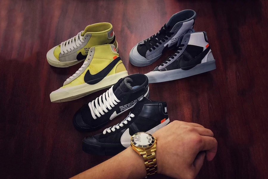 cb3511405cafd Off-White x Nike Blazer Studio Mid Colorways | SneakerFiles