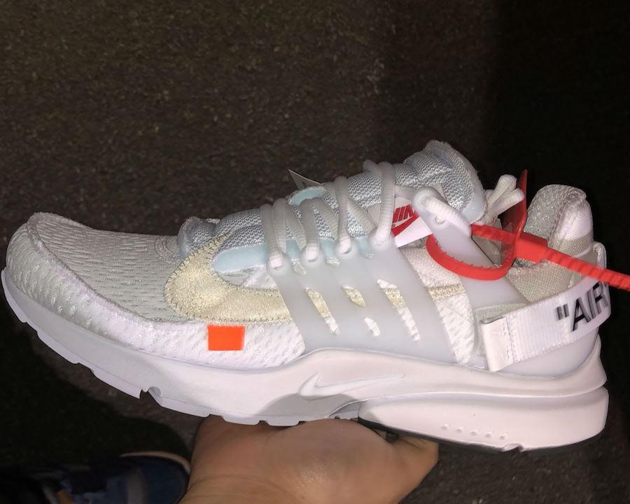 Off-White Nike Presto White 2018 AA3830-100