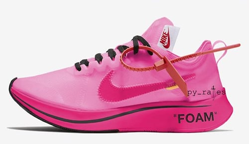 Off-White Nike Zoom Fly Pink Black