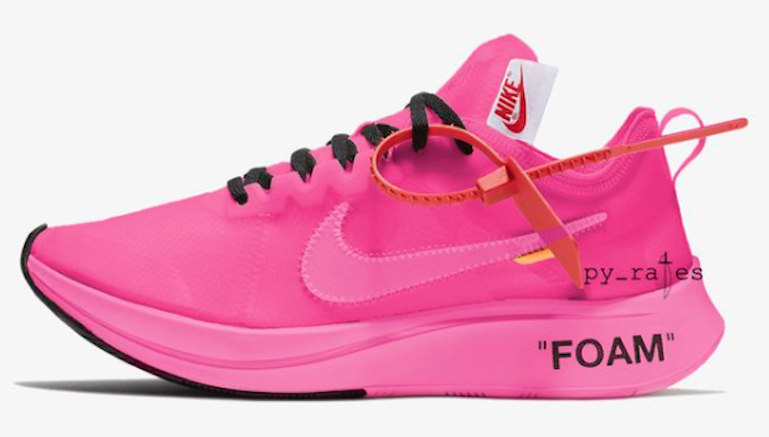 Off-White Nike Zoom Fly Pink Midsole