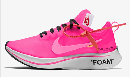 Off-White Nike Zoom Fly Pink White