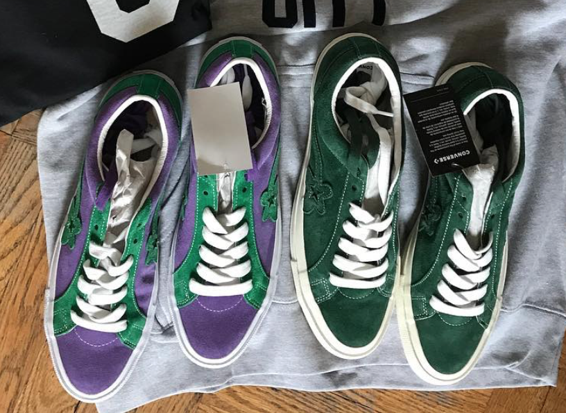 05d9ce769001 Tyler The Creator Converse Golf le Fleur Green Purple