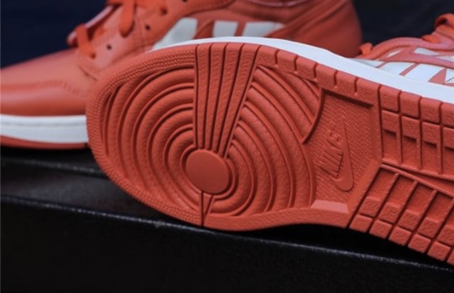 Air Jordan 1 Nike Swoosh Orange