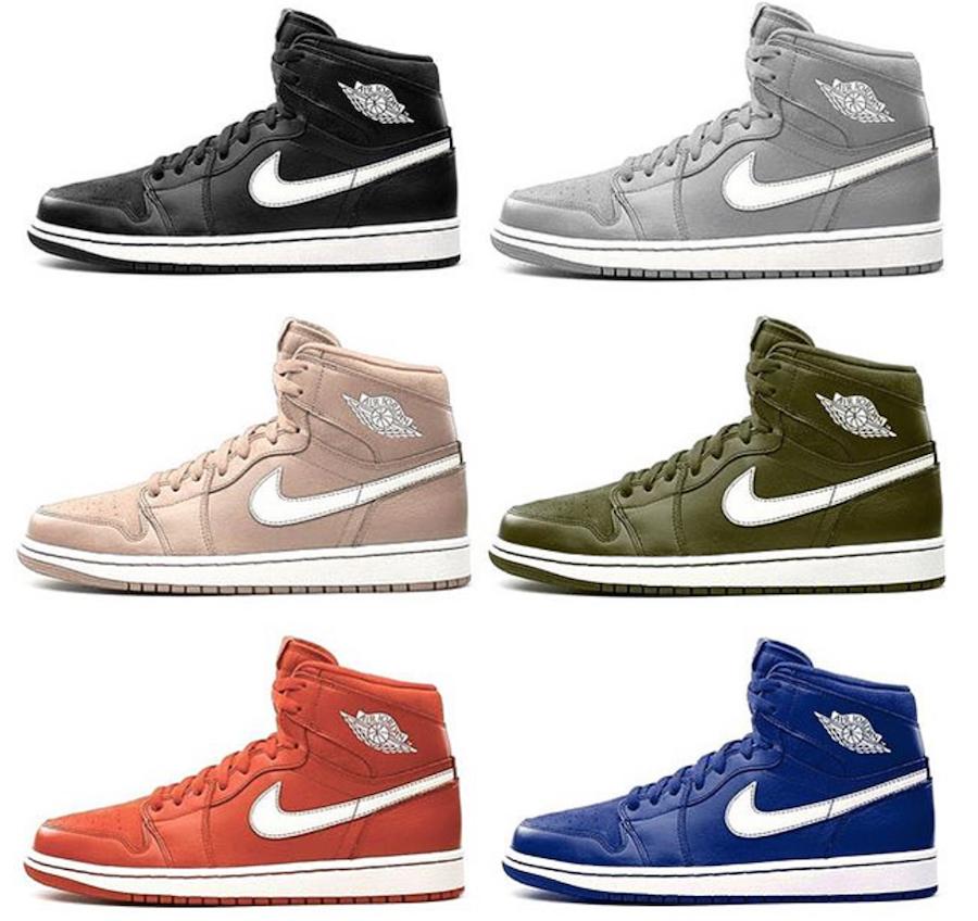 Air Jordan 1 White Blue Nike Symbol Jordan 1 High  a2f6dd1a9
