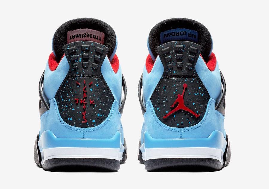 Air Jordan 4 Houston Oilers Travis Scott Official