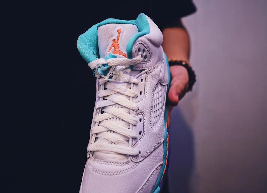 Air Jordan 5 Light Aqua 2018