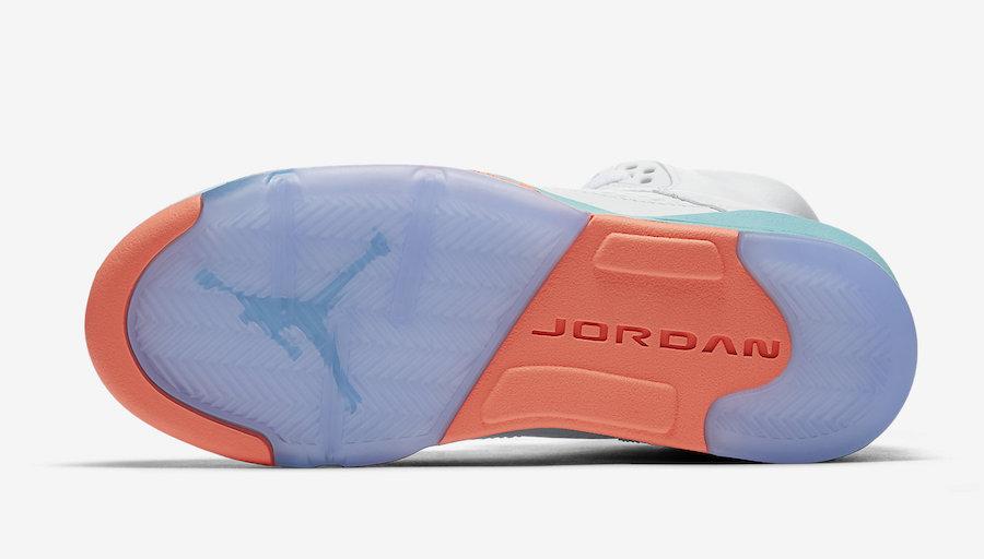 Air Jordan 5 Light Aqua GS 440892-100