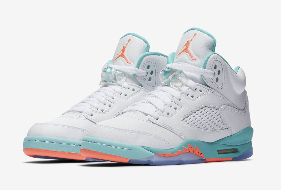 official photos dda7e 4c8aa Air Jordan 5 Light Aqua GS 440892-100