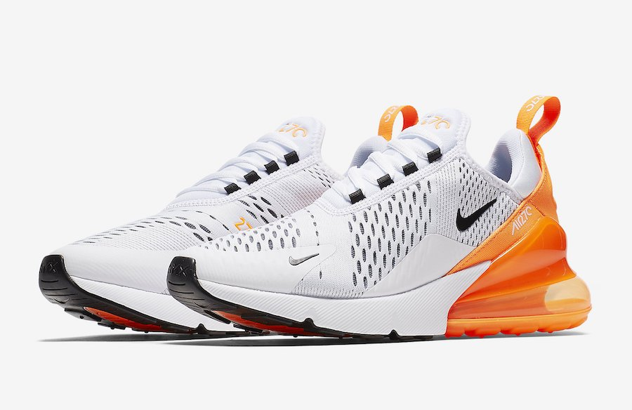 Nike Air Max 270 White Orange AH6789-104  f32d92b01