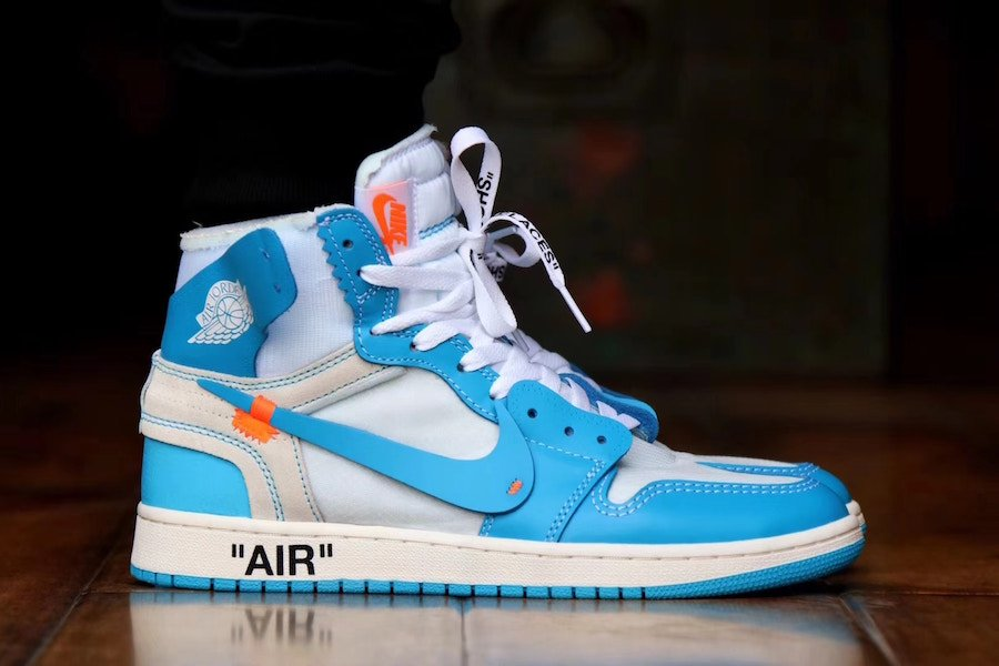 sports shoes 96220 917c2 Off-White Air Jordan 1 UNC Powder Blue AQ0818-148 | SneakerFiles