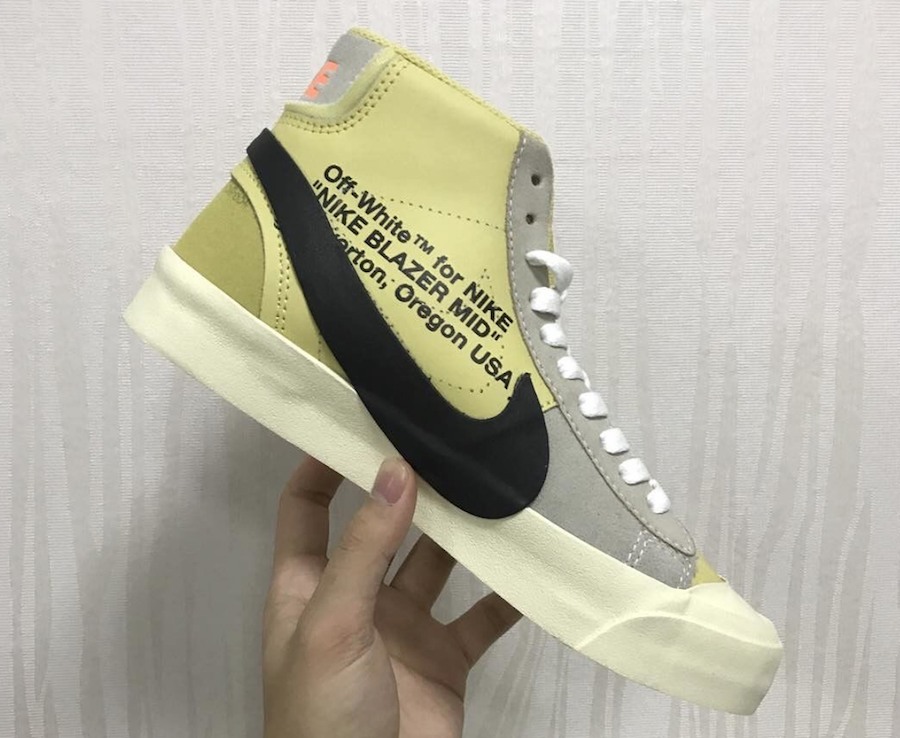 Off-White Nike Blazer Studio Mid Pale Vanilla AA3832-700