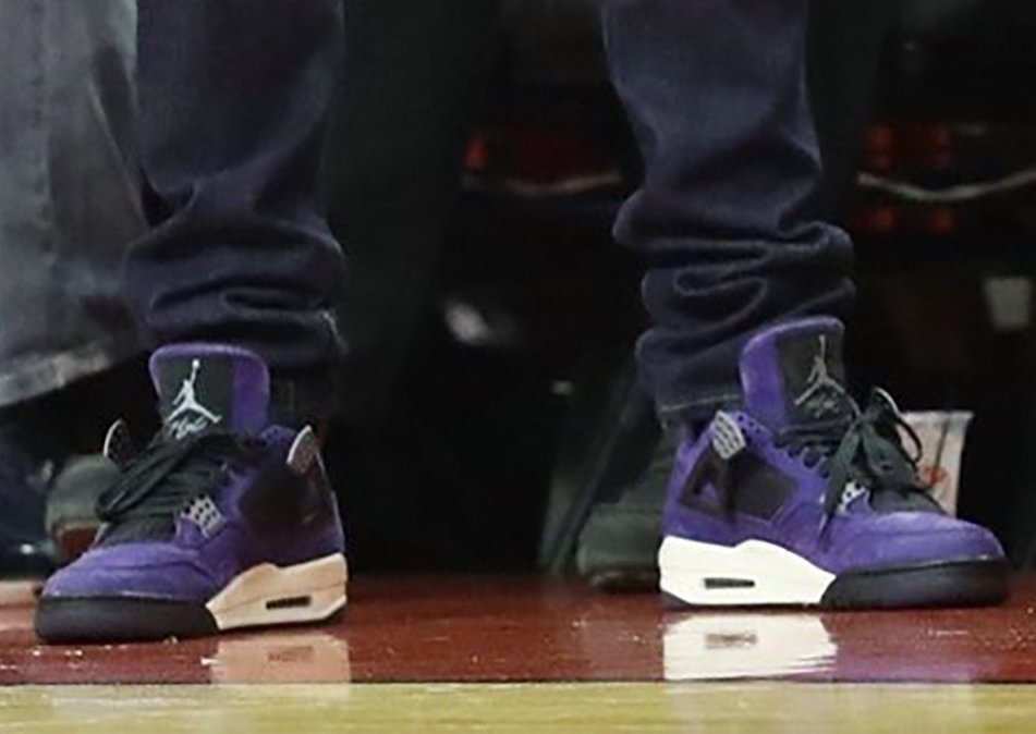 Travis Scott Air Jordan 4 Purple  e5362c169