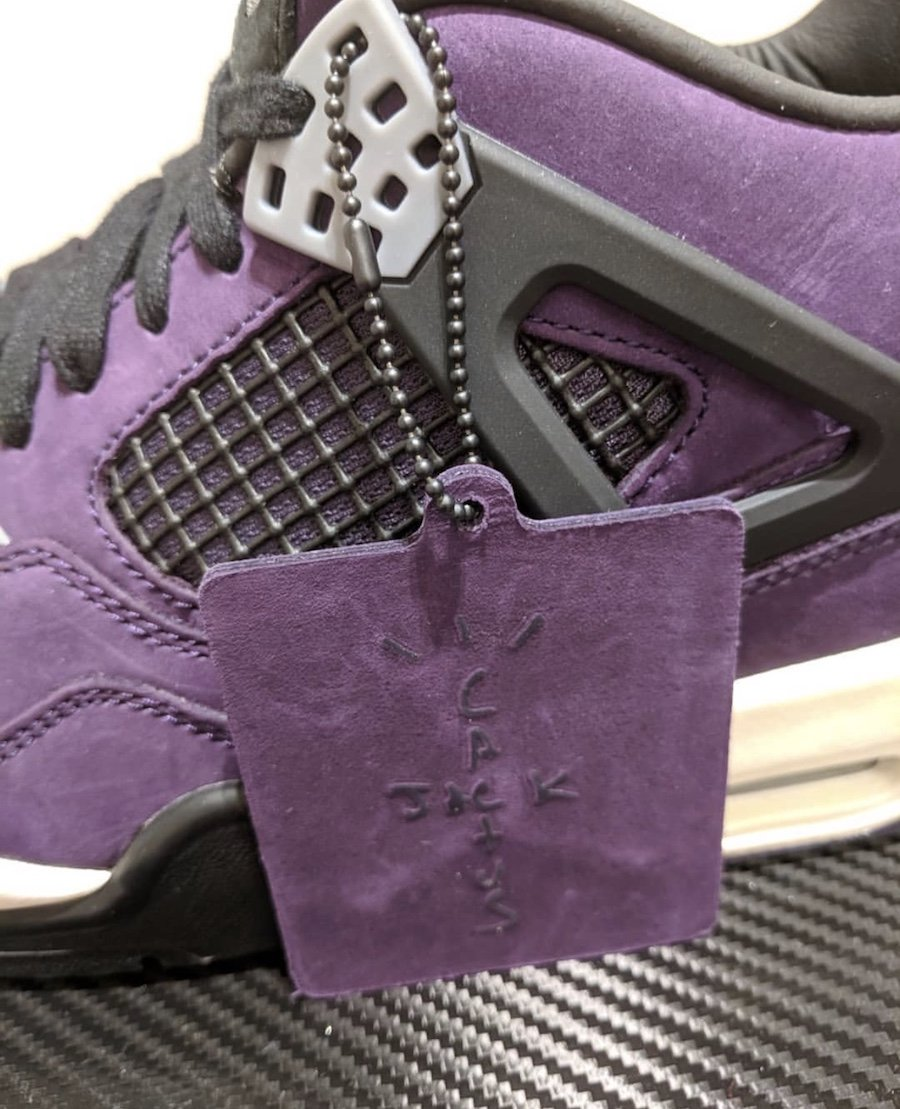Travis Scott Air Jordan 4 Purple Nike Air