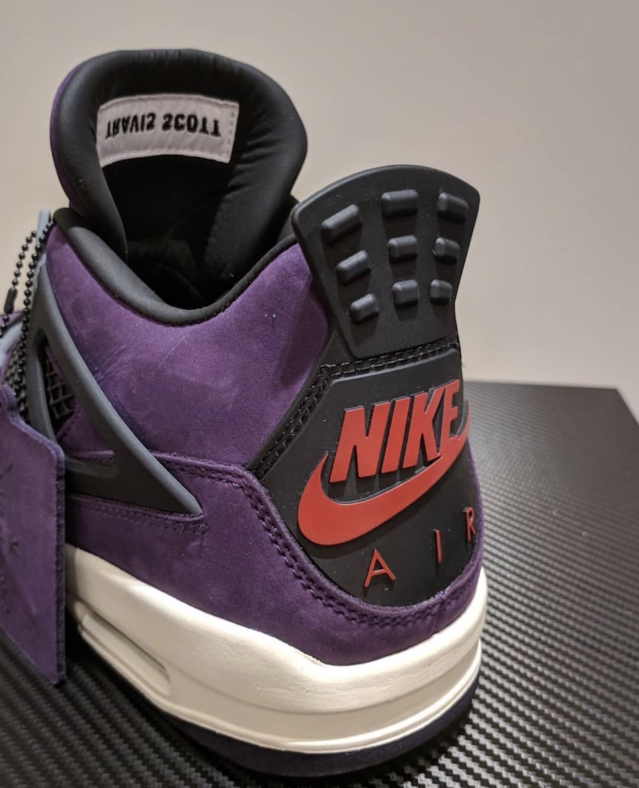 separation shoes fef76 faea3 Travis Scott Air Jordan 4 Purple | SneakerFiles