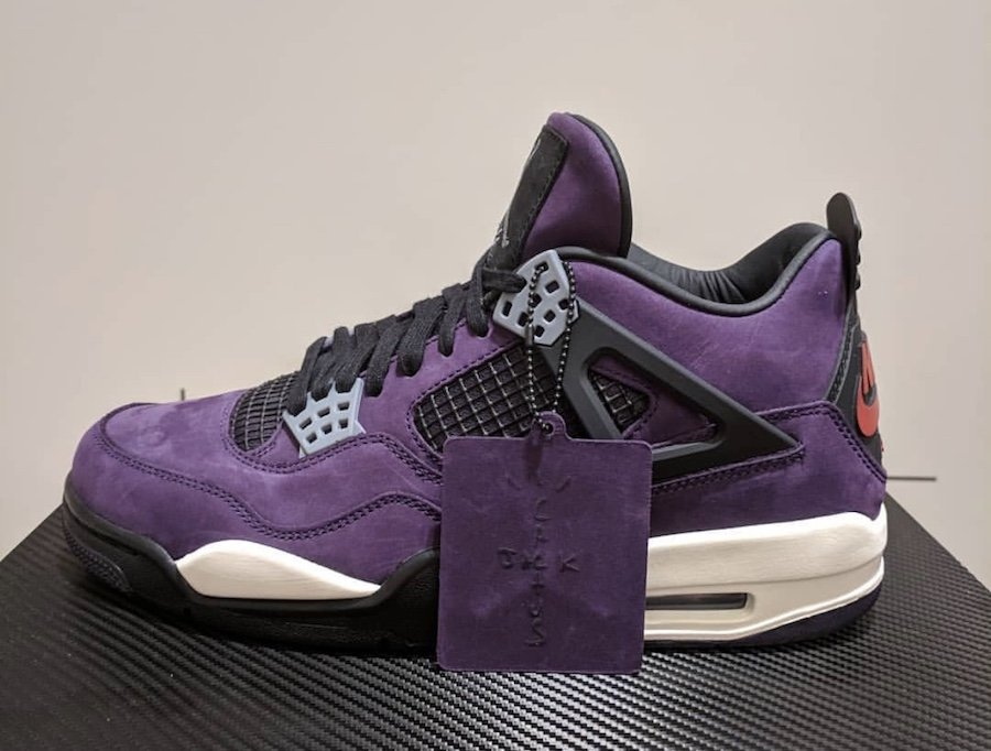 separation shoes 9dabb d3bbb Travis Scott Air Jordan 4 Purple | SneakerFiles