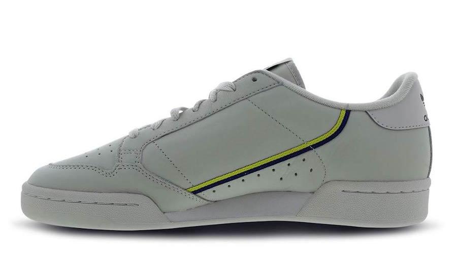 adidas Continental 80 Grey Yellow