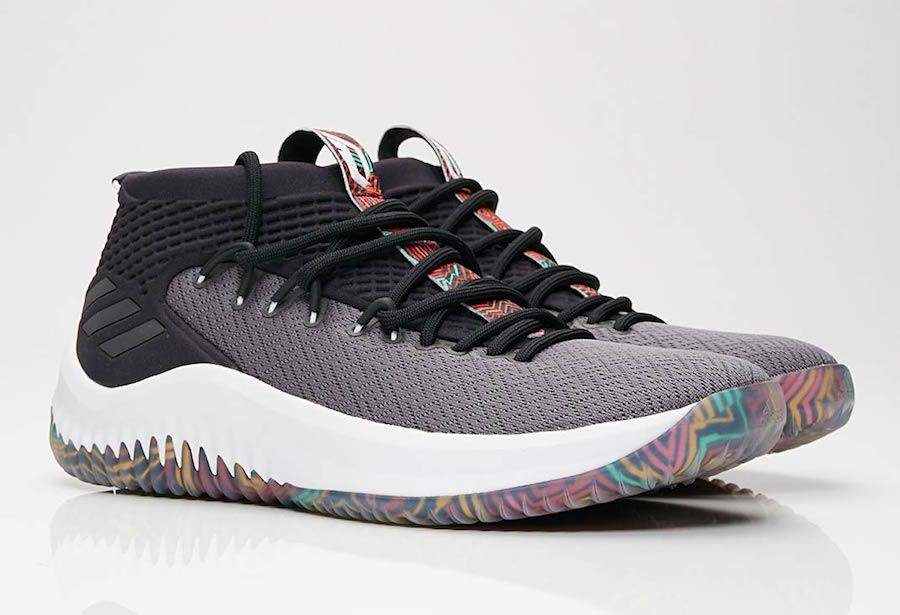 best sneakers 8db27 7f356 adidas Dame 4 Tribal Print AQ0824