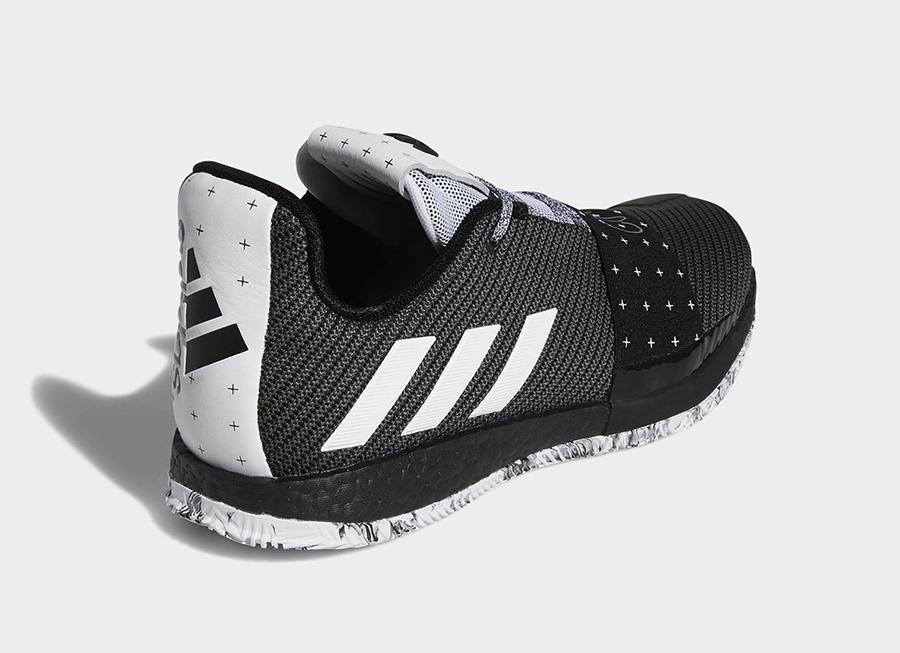 adidas Harden 3 Black White