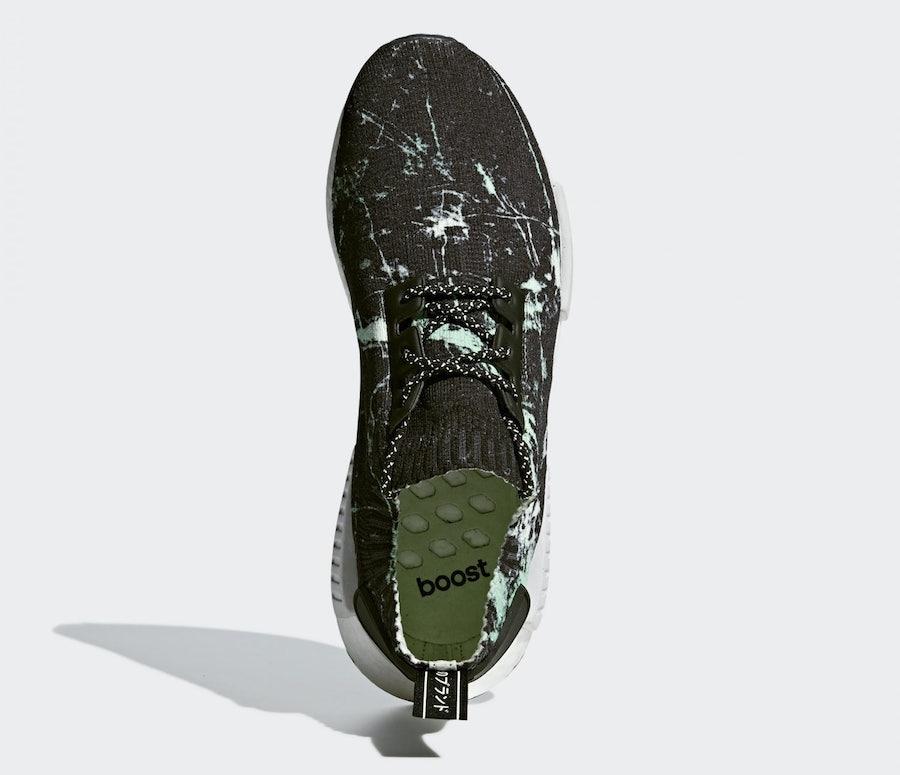 adidas NMD R1 Primeknit Green Marble BB7996