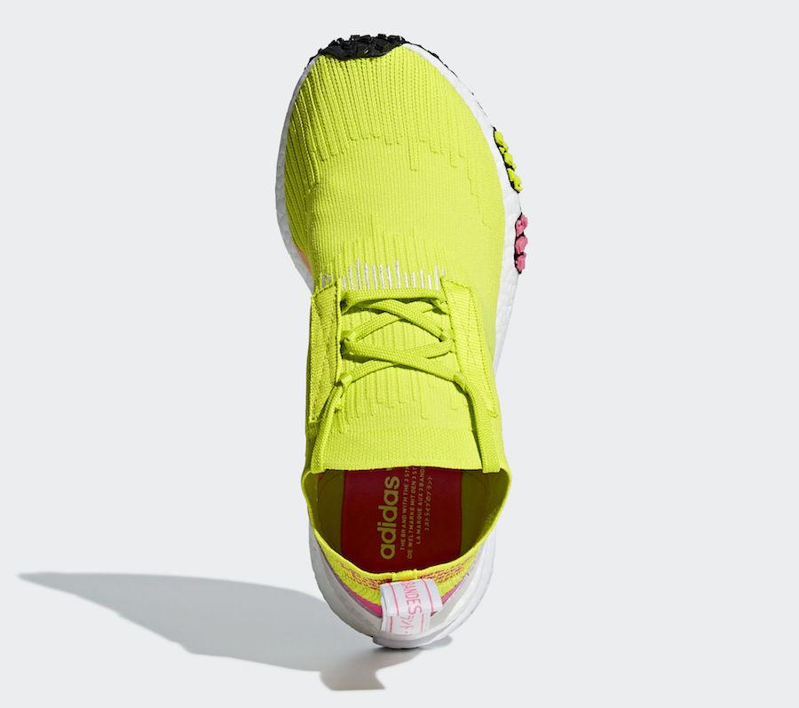 adidas NMD Racer Primeknit Semi Solar Yellow AQ1137
