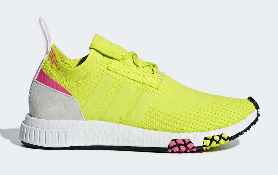 Adidas Nmd Racer Sneakers Yellow in Green