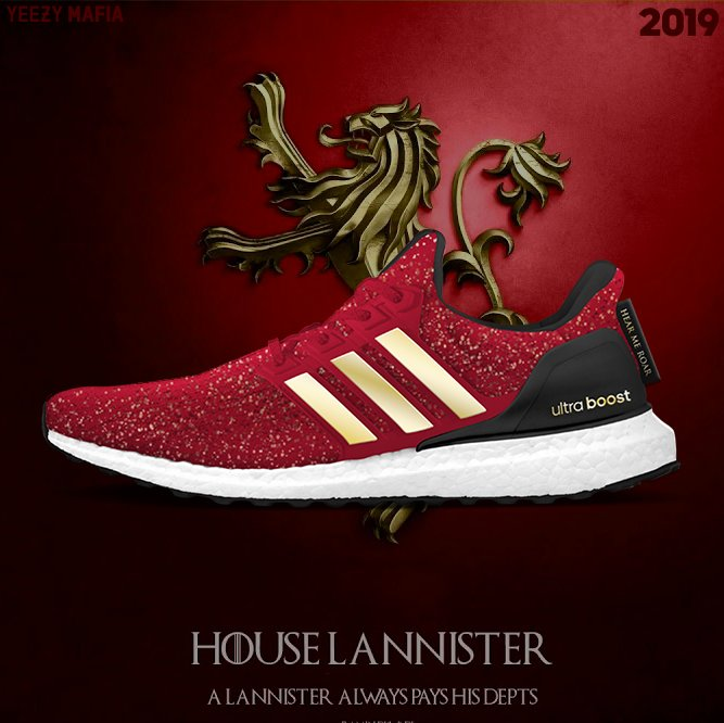 adidas Ultra Boost Game of Thrones Lannister