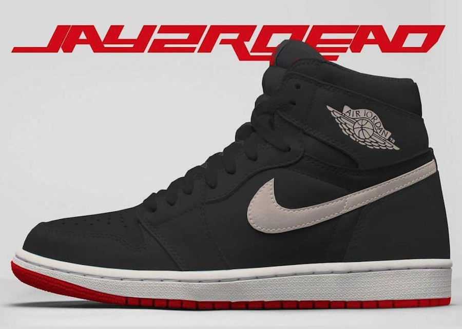 Air Jordan 1 Black Phantom University Red 555088-160