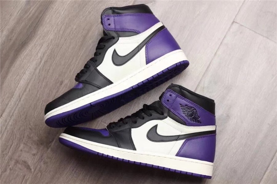 Air Jordan 1 Court Purple Toe 555088-501