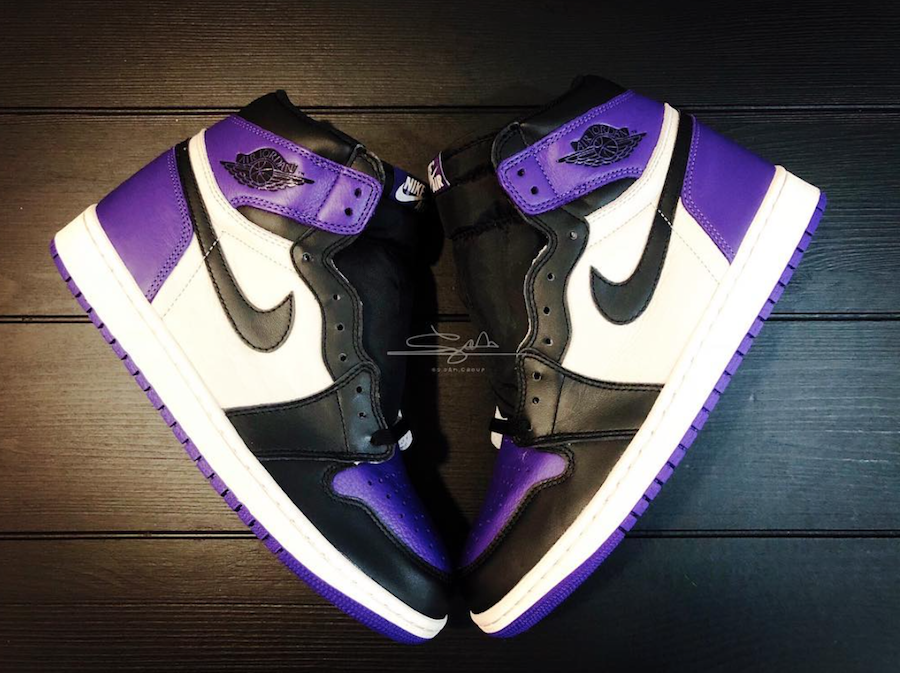 6770b4e9b3f Air Jordan 1 Court Purple Toe 555088-501 Release Date | SneakerFiles