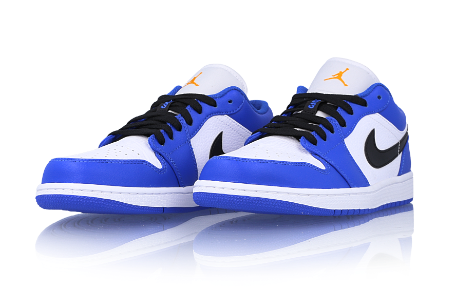 Air Jordan 1 Low Hyper Royal Orange Peel 553558-401