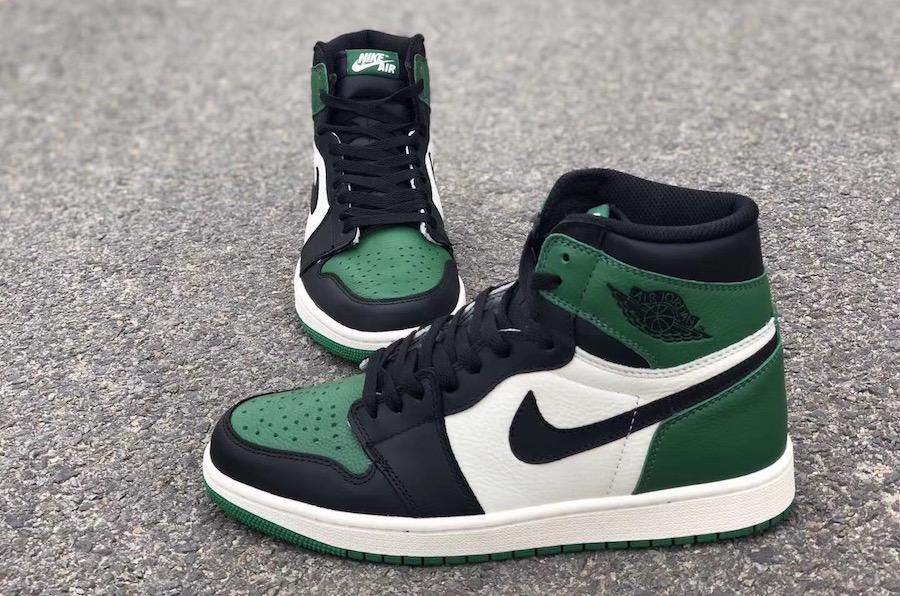 36e7032165bf Air Jordan 1 Pine Green 555088-302 Release Date