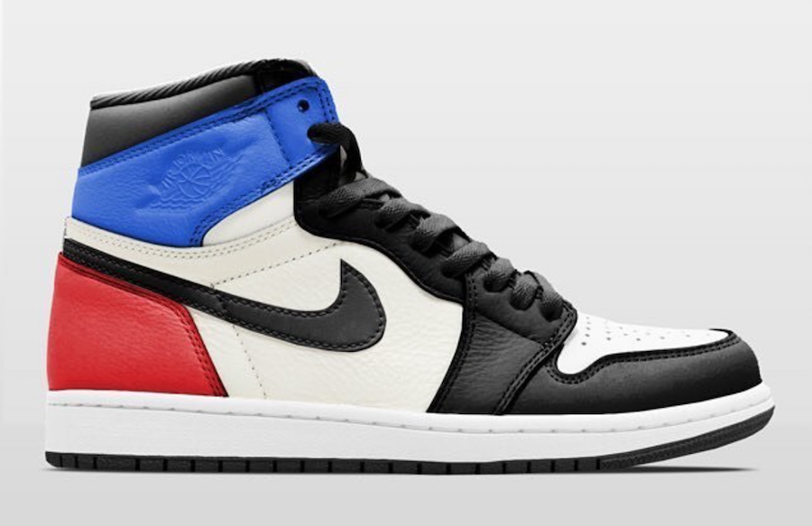 Air Jordan 1 Retro High OG Black Sail University Blue Varsity Red 555088-015 3f720822a9f2