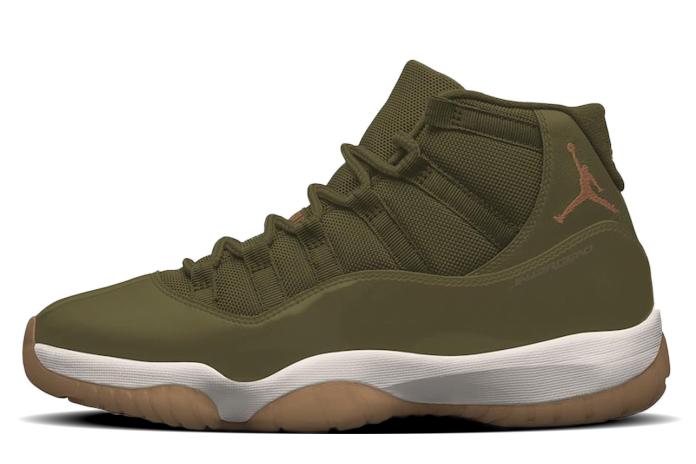 796b356638b Air Jordan 11 Neutral Olive Lux 378037-016 Release Date | SneakerFiles