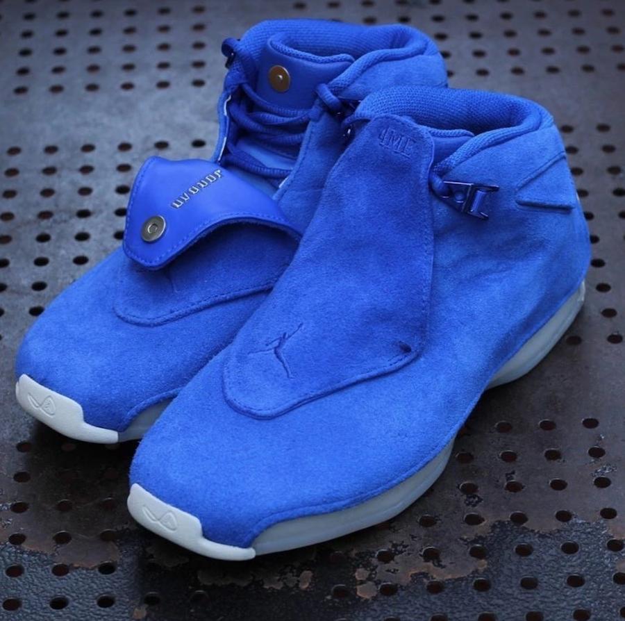 Air Jordan 18 Blue Suede