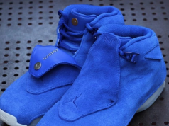 Air Jordan 18 Blue Suede AA2494-401 Racer Blue Sail