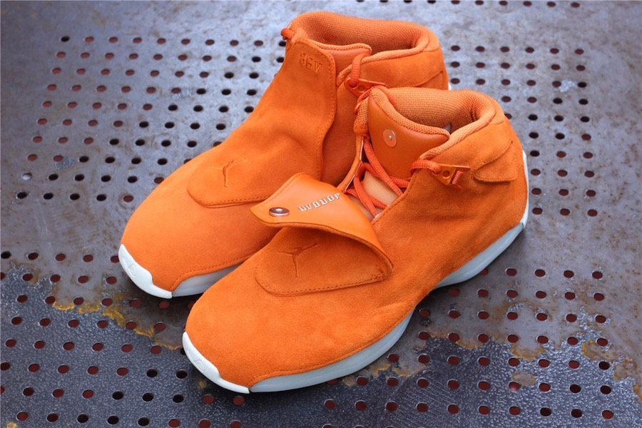 Air Jordan 18 Orange Suede AA2494-801 Release Date