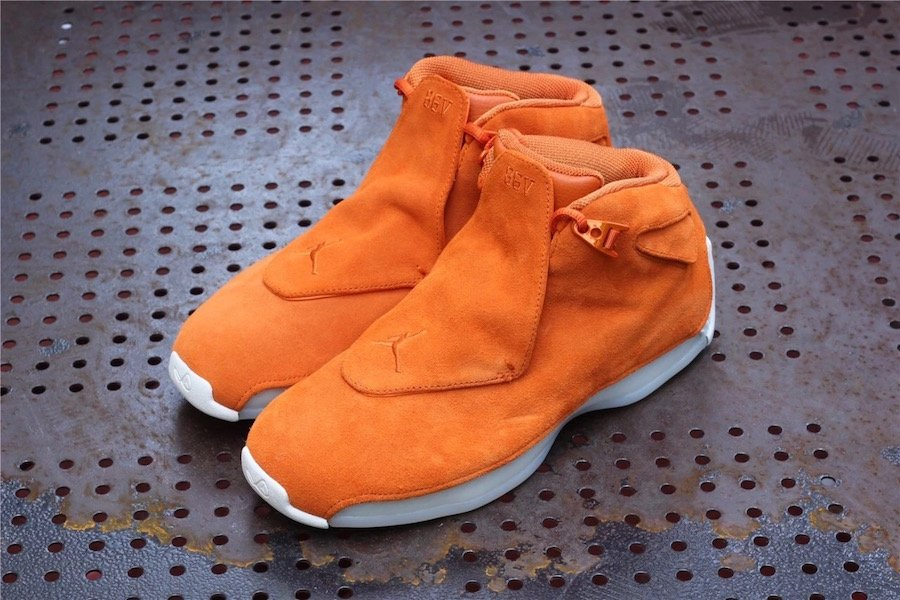 Air Jordan 18 Orange Suede AA2494-801 Release Date  4d432a020